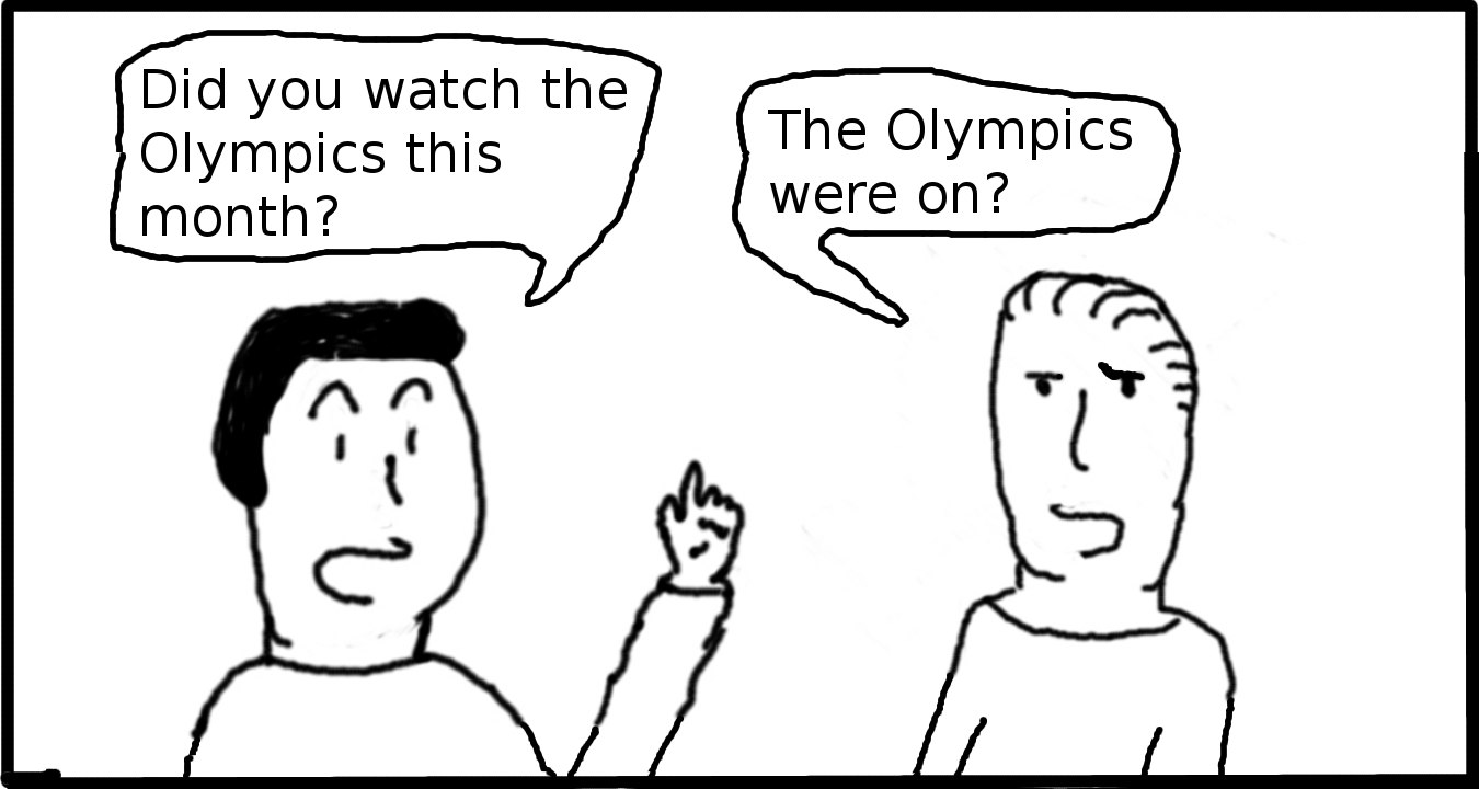 How america sees the Olympics.